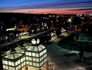 The skyline above Auburn Washington