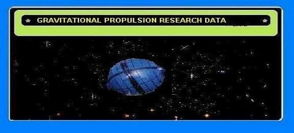Graitational Propulsion Research Data