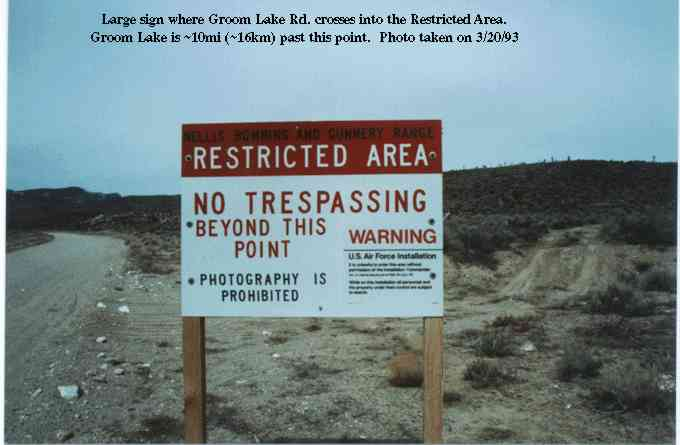 A sign at Area 51