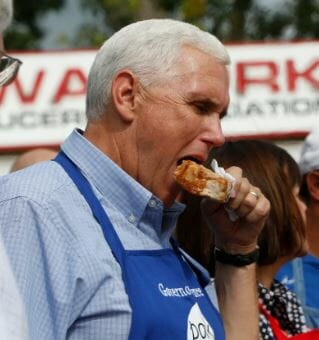 Pence Eating Meat